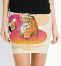 Chillin, Flamingo Tiger Mini Skirt