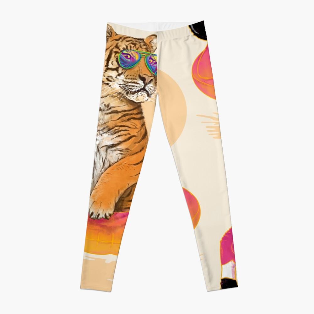 Chillin, Flamingo Tiger Leggings