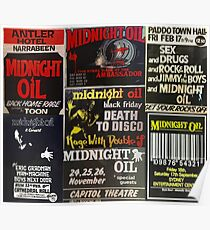 7 old midnight oil posters Poster