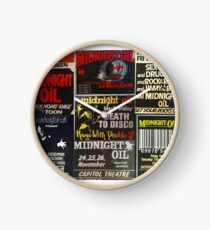 7 old midnight oil posters Clock