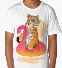 Chillin (Flamingo Tiger) Long T-Shirt