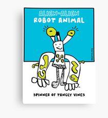 Alien-Alien Robot Animal Comic Monster Design Canvas Print