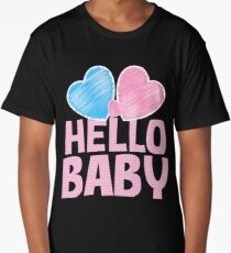 Hello Baby newborn baby greeting in pink Long T-Shirt