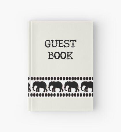Lodge décor - Crisp White & Black Hardcover Journal