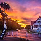 Sunset at Sandgate by Silken Photography