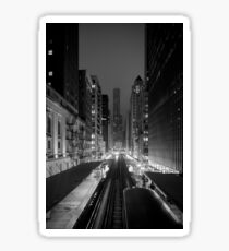 Chicago from the L Train Sticker