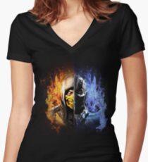 Mortal Kombat X Women's Fitted V-Neck T-Shirt