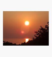 Sunset Lens Flare Photographic Print