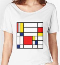 Mondrian Composition Women's Relaxed Fit T-Shirt