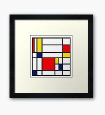 Mondrian Composition Framed Print
