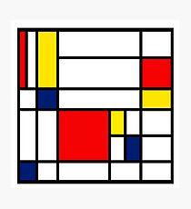 Mondrian Composition Photographic Print