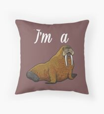 I'm A Walrus Retro Classic Design Throw Pillow