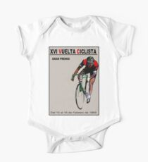 VUELTA CICLISTA: Vintage Bike Racing Advertising Print One Piece - Short Sleeve