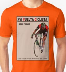 VUELTA CICLISTA: Vintage Bike Racing Advertising Print Unisex T-Shirt