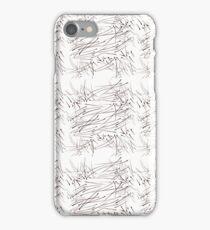 Grass stroke line design iPhone Case/Skin