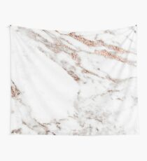 Rose gold vein marble Wall Tapestry