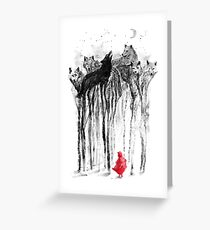 Into the woods greeting cards redbubble into the woods greeting card m4hsunfo