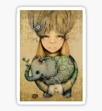 elephant child Sticker