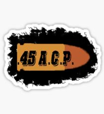 45 ACP ammo can label pistol bullet box Sticker
