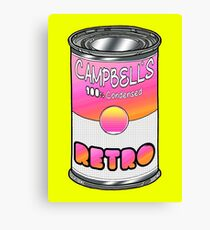 Canned Retro Canvas Print