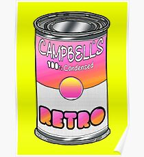 Canned Retro Poster