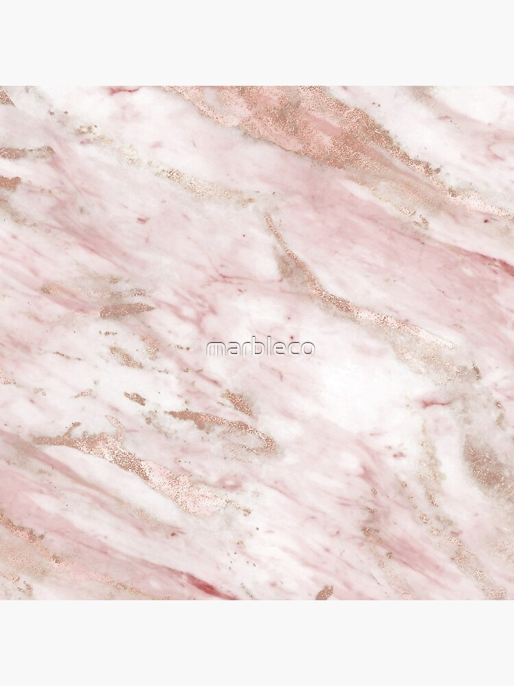 Pink marble - rose gold accents by marbleco