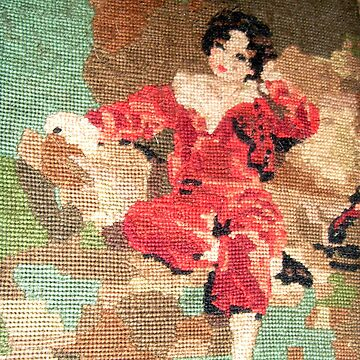 The Red Boy Tapestry by hilarydougill