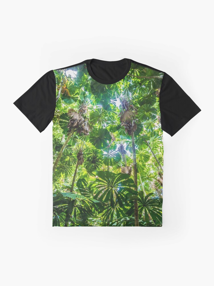 Alternate view of Fan palm forest Graphic T-Shirt