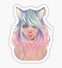 Pastel Wolf Sticker