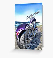 Rear Photo Of a Harley Davidson Bike Greeting Card