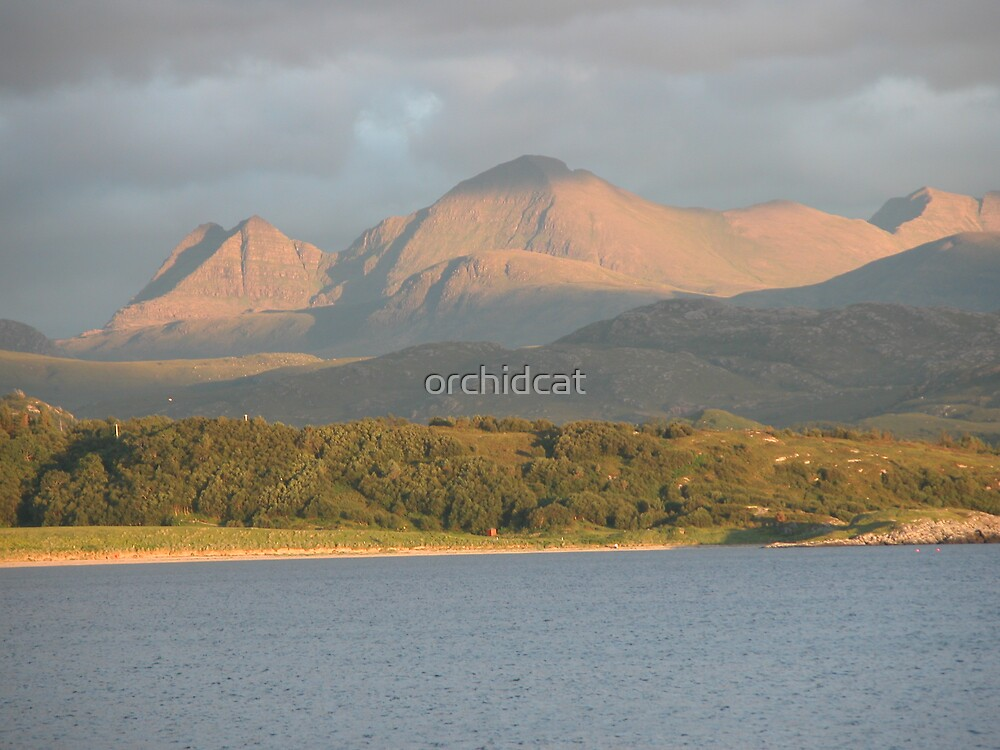 Sunset on the Torridon Mountains by orchidcat