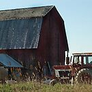 The Barn And Tractor by cherylc1