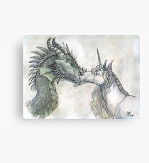 Dragon and Unicorn Canvas Print