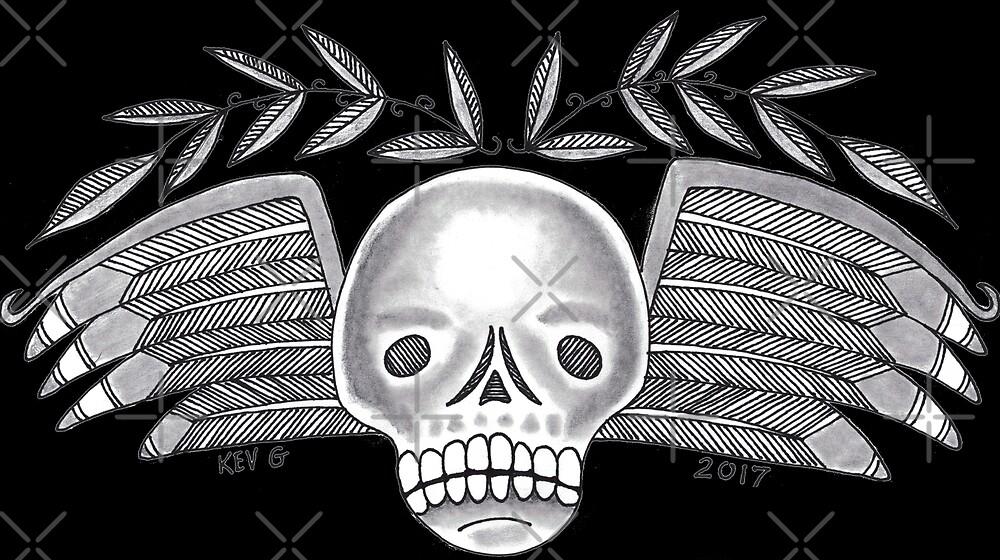 Cemetery Skull - Art By Kev G by ArtByKevG