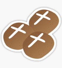 Hot cross buns for Easter Sticker