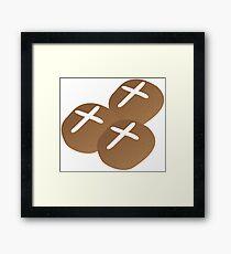 Hot cross buns for Easter Framed Print
