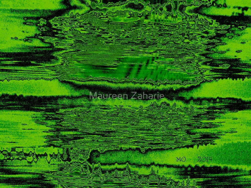 "OOZING GREEN ""THE DRAMITIC DRIP"" by Maureen Zaharie"