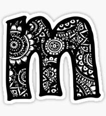 M Doodle Letter Sticker