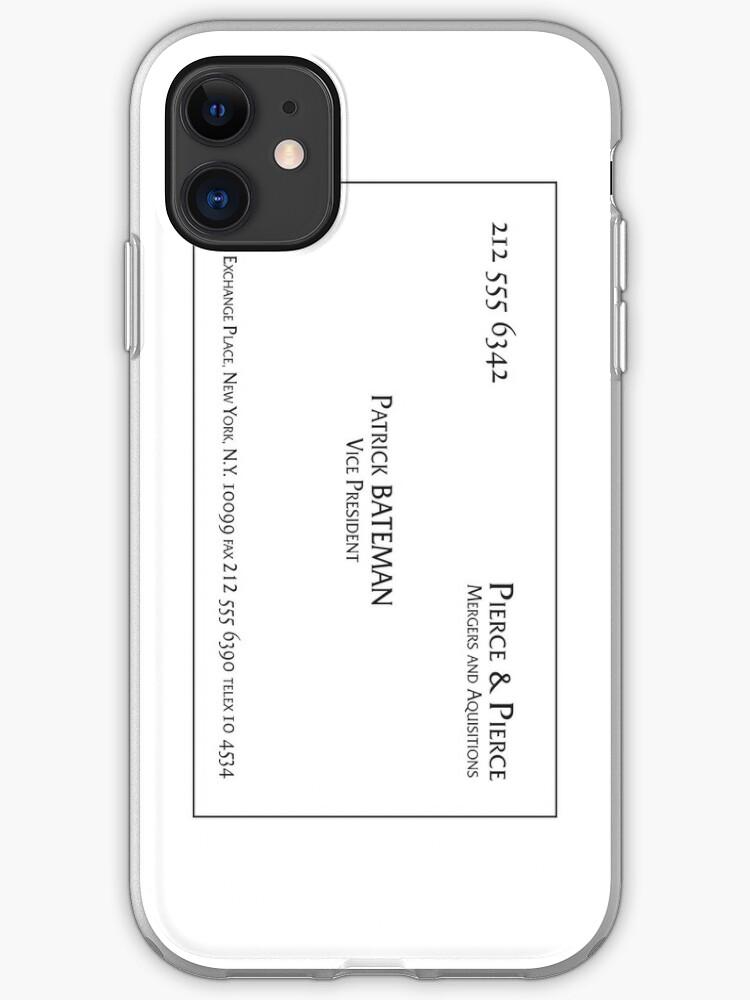 Patrick Bateman Business Card Vertical Iphone Case By Troy V
