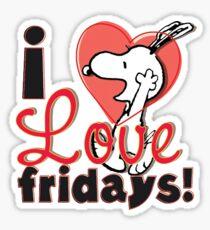 I love Fridays Snoopy Sticker Sticker