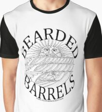 Salty Surfing Bearded Barrels Graphic T-Shirt