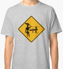 Caution sign. The endless summer surfing design. Classic T-Shirt
