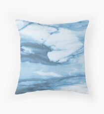 Marble Blue Ocean Throw Pillow