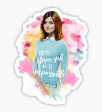 Run You Clever Girl - Clara Oswald Sticker