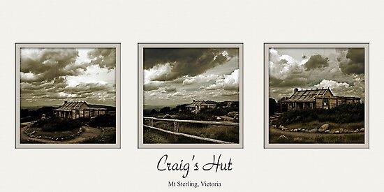 Craig's Hut Tryptich by Samantha Cole-Surjan