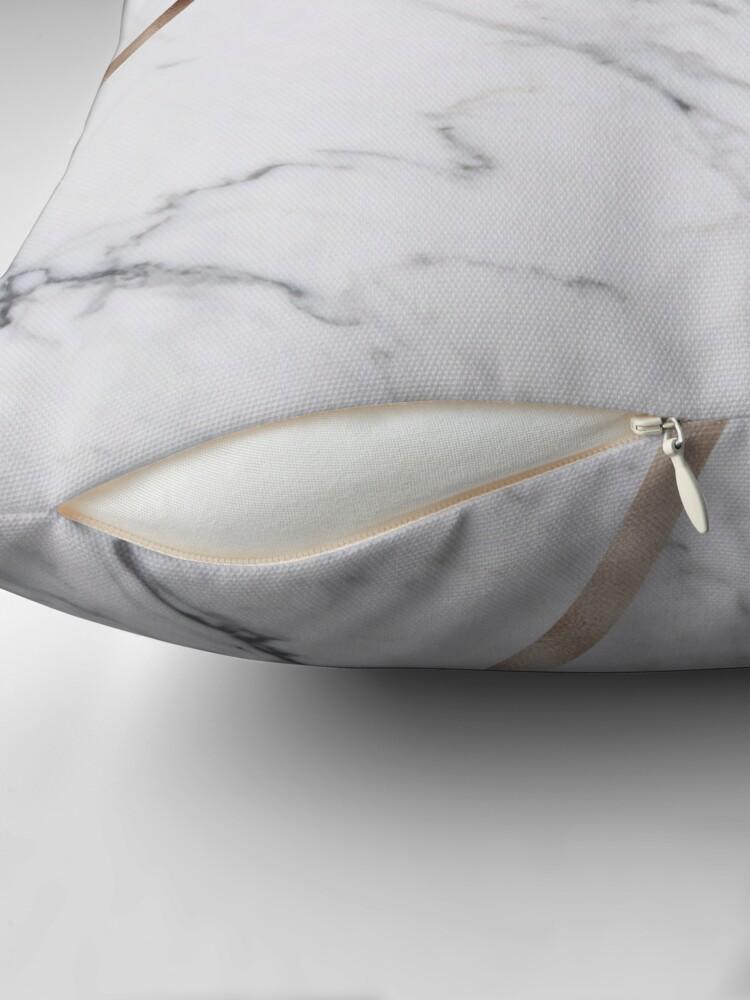Vista alternativa de Cojín Rose Golden marble clásico