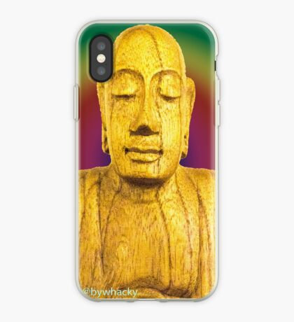 Wooden Budha  iPhone Case