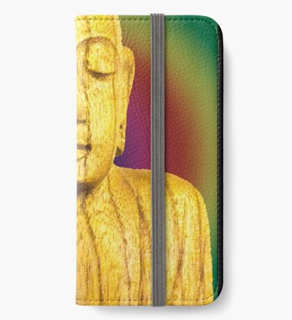 Wooden Budha  iPhone Wallet