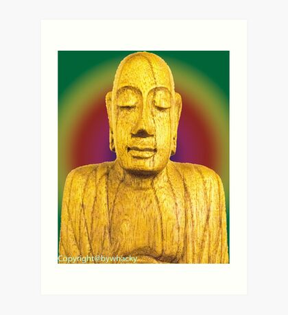 Wooden Budha  Art Print