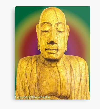 Wooden Budha  Metal Print